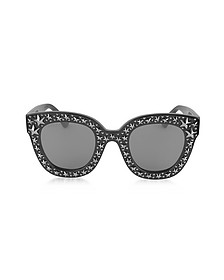 GG0116S Acetate Cat Eye Women's Sunglasses w/Stars feature star worthy retro  - Gucci