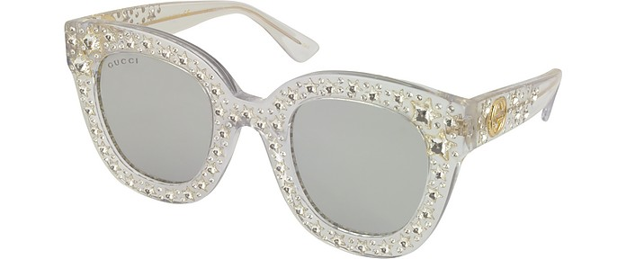 ec72a3f5782fe GG0116S Acetate Cat Eye Women s Sunglasses w Stars feature star worthy retro  - Gucci.  969.00 Actual transaction amount