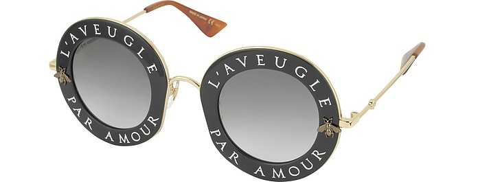 805b1f27ff6 GG0113S Acetate and Gold Metal Round Women s Sunglasses - Gucci. AU 675.00  Actual transaction amount