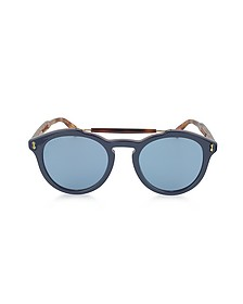 GG0124S Acetate Round Aviator Men's Sunglasses