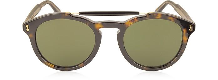 website for discount new concept cheap GG0124S Acetate Round Aviator Men's Sunglasses