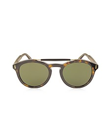 GG0124S Acetate Round Aviator Men's Sunglasses - Gucci