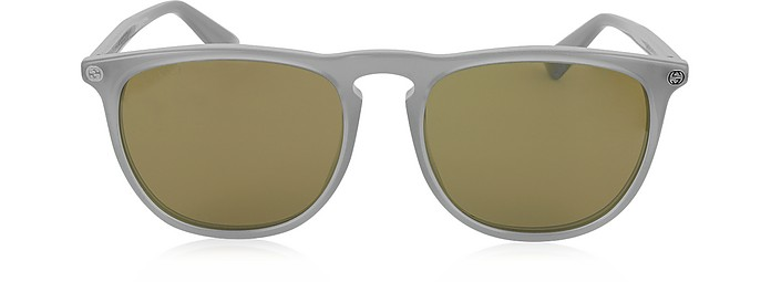 GG0120S 005 Gray Acetate Rounded Square Men's Sunglasses - Gucci