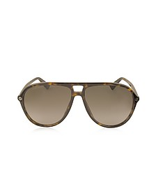 GG0119S Acetate Aviator Men's Sunglasses - Gucci