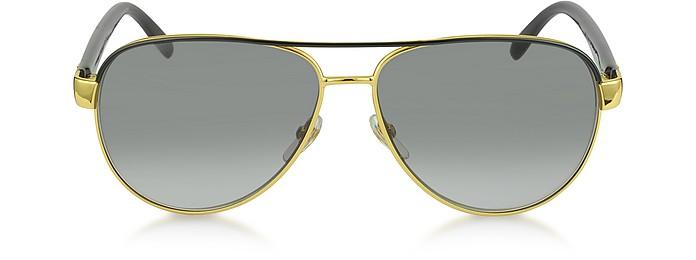 915aaeb918 Gucci Gold Gradient Grey GG 4239 S DYOEU Golden Metal Frame at FORZIERI