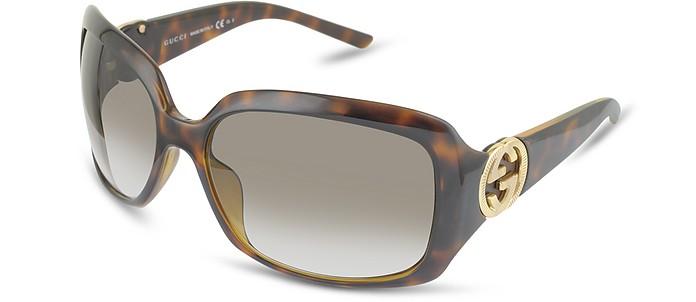 Women's GG Logo Rectangular Frame Sunglasses - Gucci