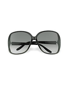 Heart Logo Plastic Frame Sunglasses