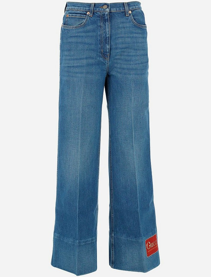 Cotton Denim Women's Jeans - Gucci