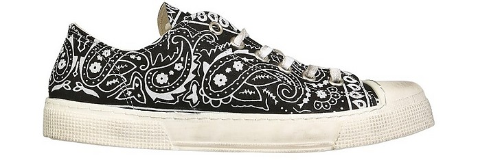 Jean Michel Black Bandana Low Top Sneakers - Gienchi