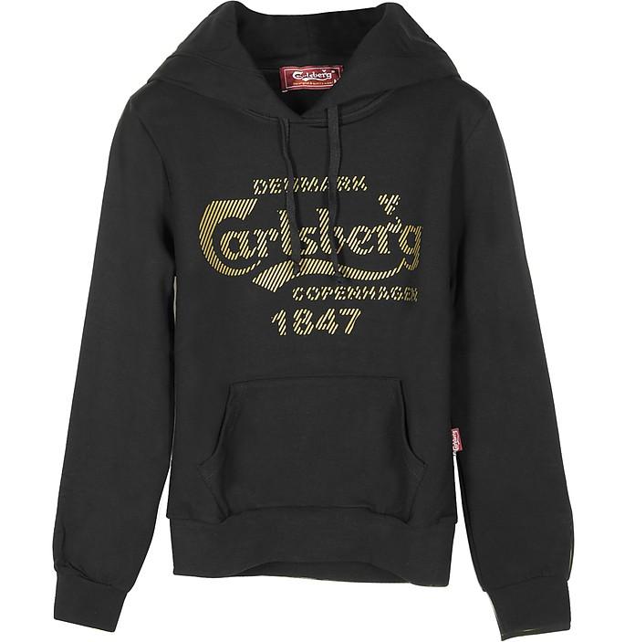 Signature Black Cotton Women's Sweater - Carlsberg