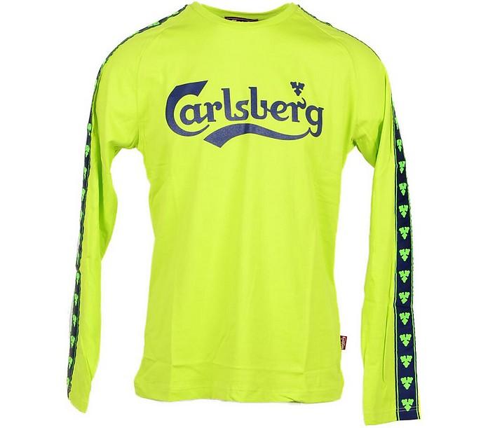 Acid Green Signature Long Sleeve T-Shirt - Carlsberg