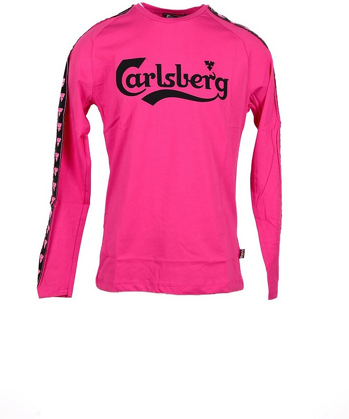 Signature Fuchsia Cotton Long Sleeve Men's T-Shirt - Carlsberg
