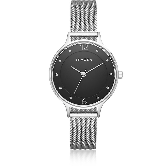 Anita Black Dial Steel-Mesh Women's Watch - Skagen