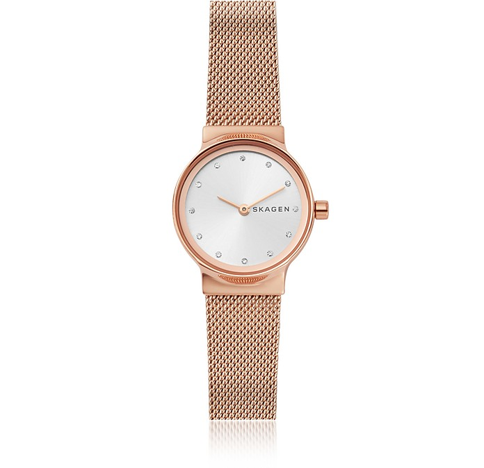 Freja Rose Gold-Tone Steel-Mesh Women's Watch - Skagen