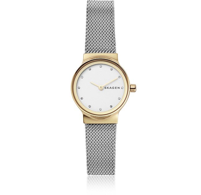 Freja Two Tone Steel Mesh Women's Watch - Skagen