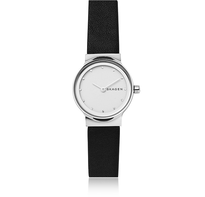 Freja Black Leather Women's Watch - Skagen