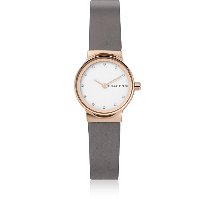 Freja Gray Leather Women's Watch - Skagen
