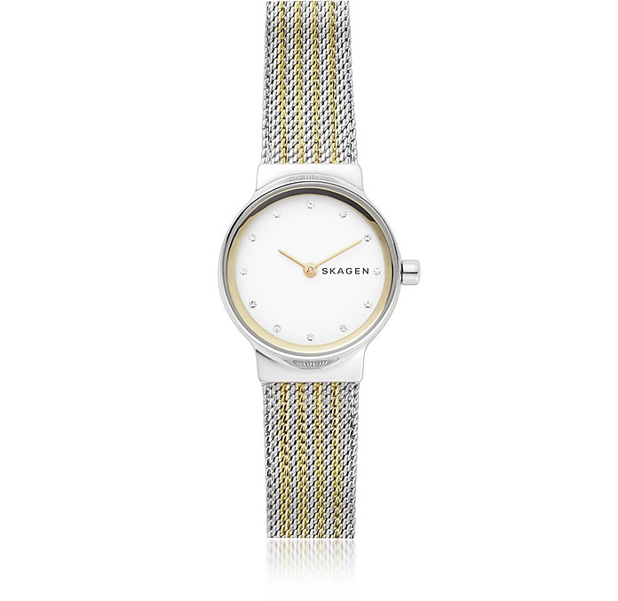 Freja Two-Tone Steel-Mesh Women's Watch - Skagen