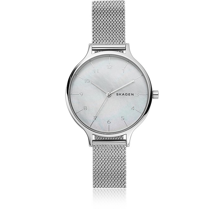 Anita Steel-Mesh Mother of Pearl Women's Watch - Skagen