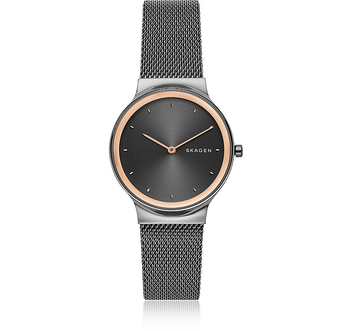 Freja Dark Gray Steel-Mesh Women's Watch - Skagen