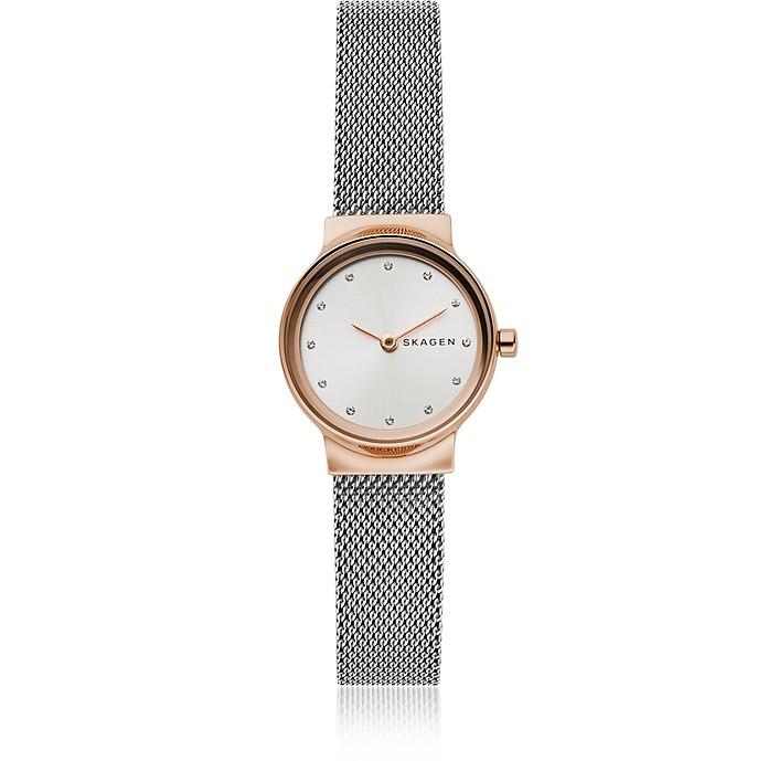 Freja Two-Tone Steel-Mesh Women's Watch - Skagen