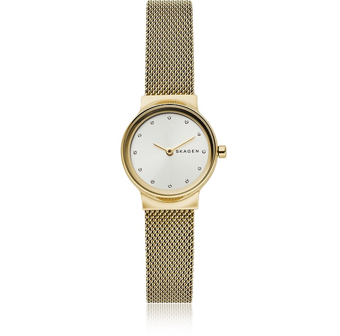 Freja Gold-Tone Steel-Mesh Women's Watch - Skagen