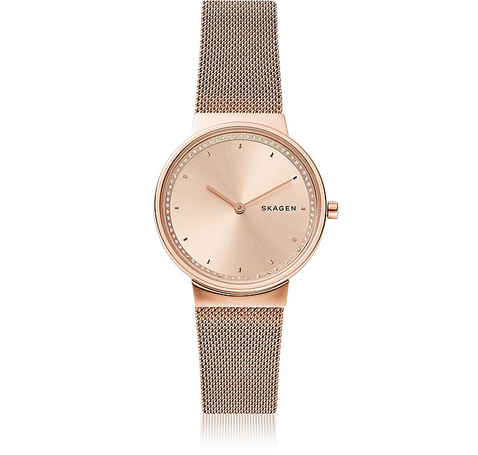Annelie Rose Tone Steel Mesh Watch - Skagen