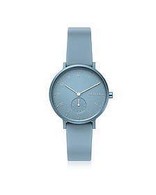 Aaren Kulor Light Blue Silicone 36mm Watch