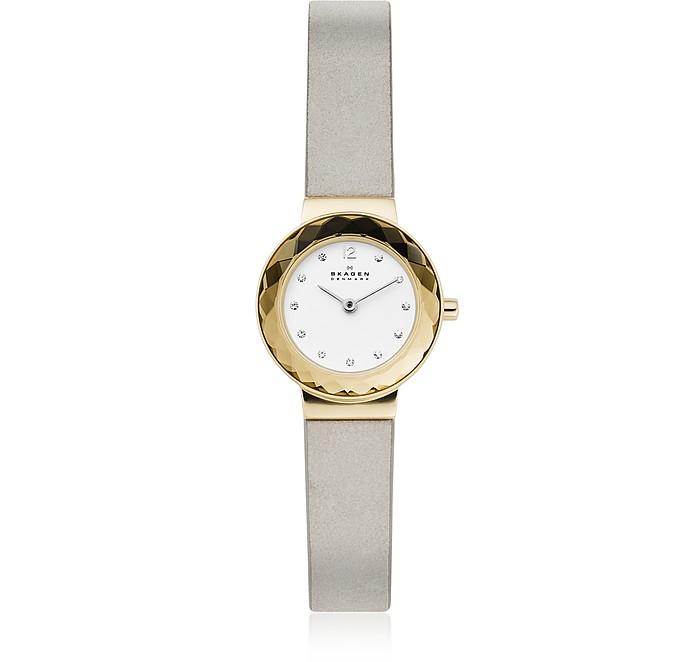 Leonora Gray Leather Watch - Skagen