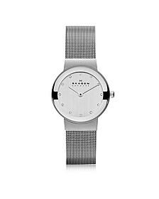 Freja Silvertone Stainless Steel Mesh Bracelet Women's Watch - Skagen