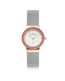 Freja Two Tone Stainless Steel Mesh Bracelet Women's Watch - Skagen
