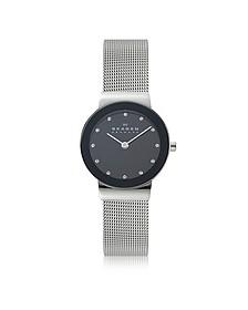 Freja Black Stainless Steel Mesh Bracelet Women's Watch - Skagen