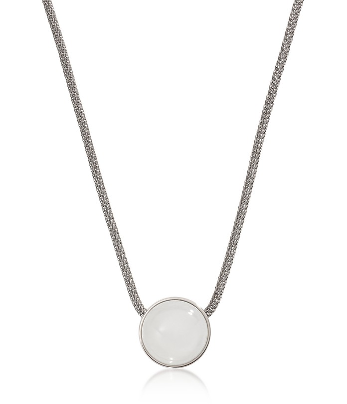 Sea Glass Silver Tone Women's Necklace - Skagen
