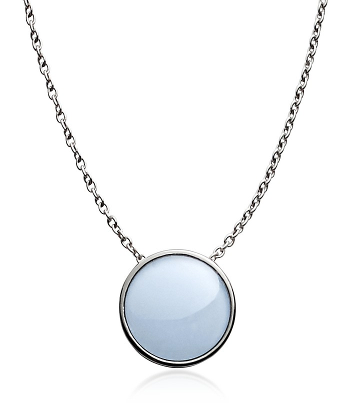 Sea glass Silver Tone Pendant Necklace - Skagen