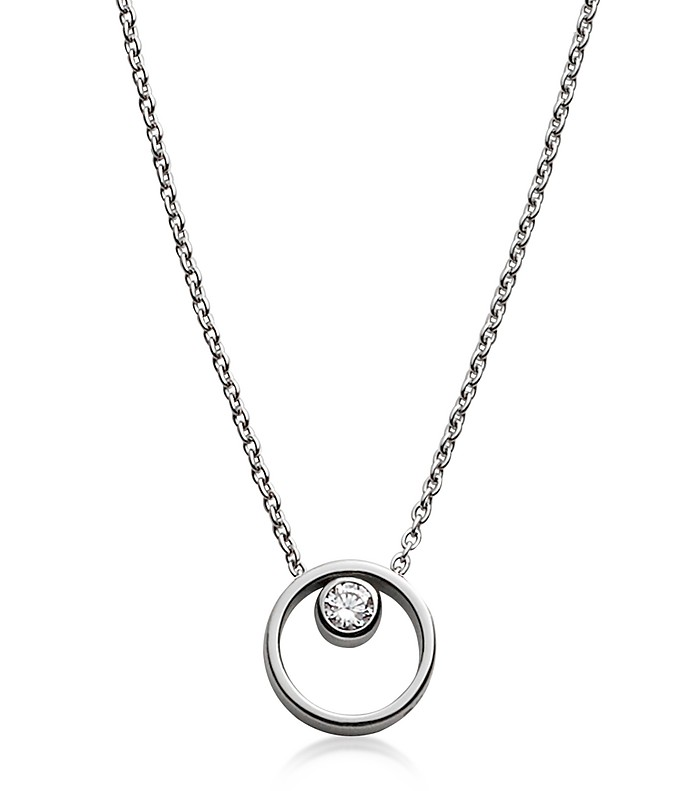 Elin Crystal Circle Necklace - Skagen