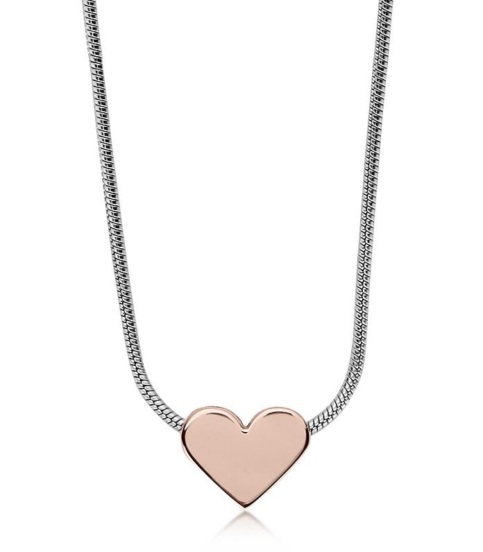 Katrine Two-Tone Heart Necklace - Skagen
