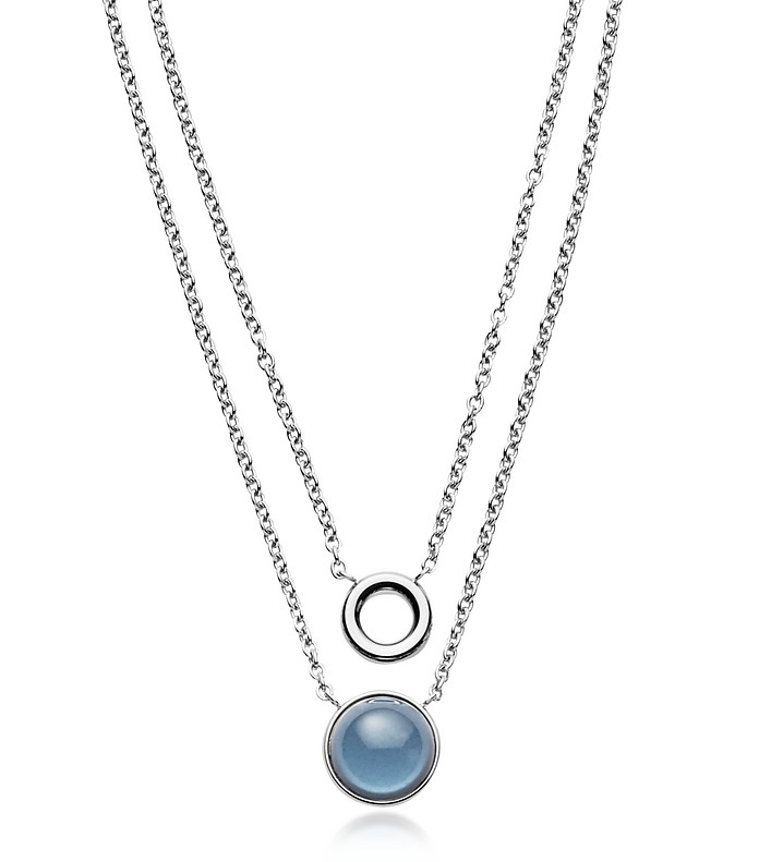 Sea Glass Layered Pendant Necklace - Skagen