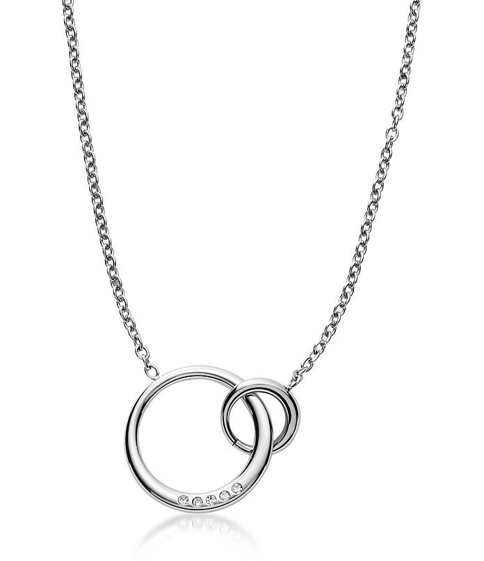 Elin Silver Tone Crystal Pendant Necklace - Skagen