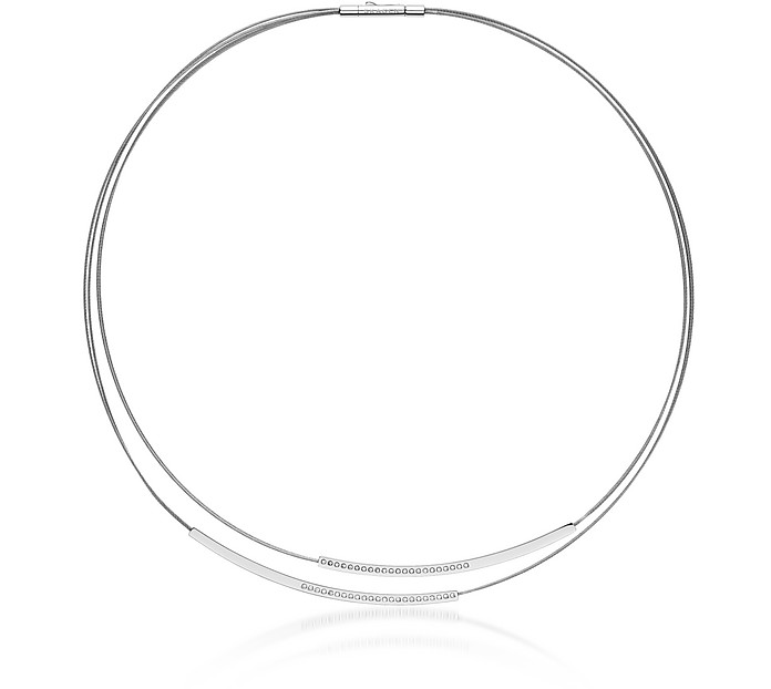 Elin Silver Tone Wire Necklace - Skagen