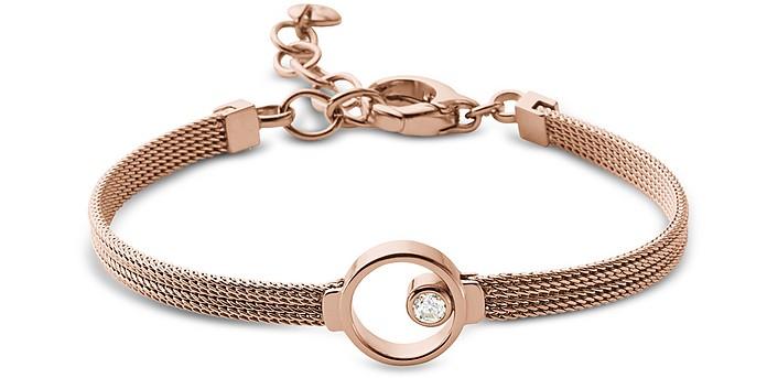 Elin Rose Gold Tone Crystal Women's Bracelet - Skagen