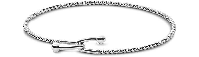 Anette Silver Tone Twisted Bangle Bracelet - Skagen