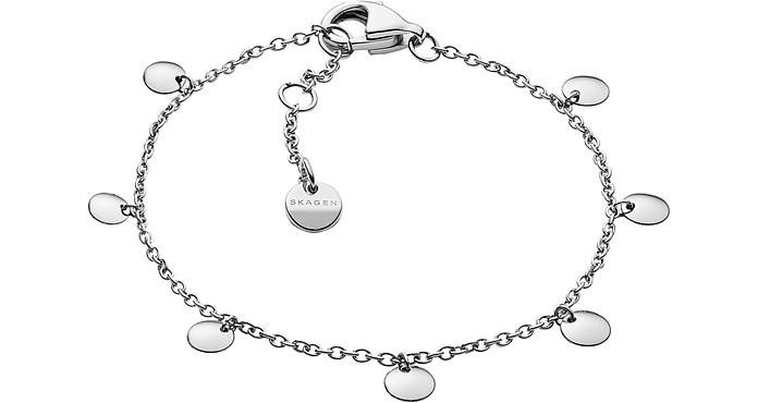 Anette Silver Tone Charm Bracelet - Skagen