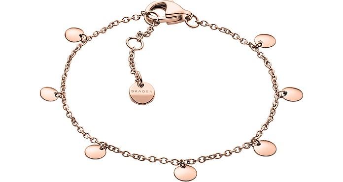 Anette Rose Tone Charm Bracelet - Skagen