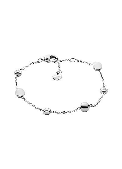 Sea Glass Silver Tone Station Bracelet - Skagen