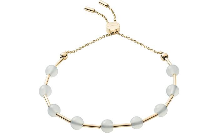 Anette Gold Tone Glass Bead Bracelet - Skagen
