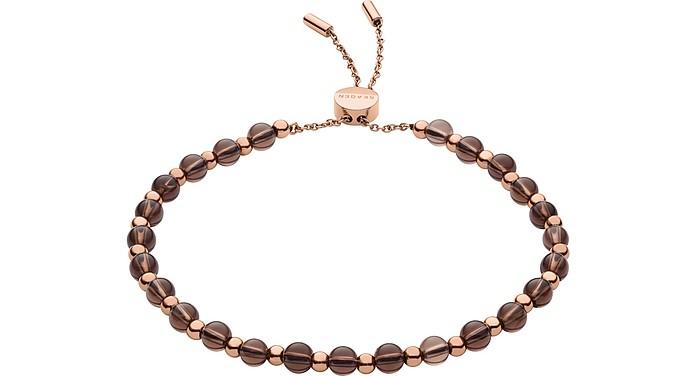 Anette Smoky Quartz Beaded Bracelet - Skagen