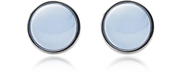 Sea Glass and Stainless Steel Women's Round Earrings - Skagen