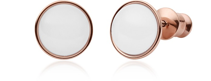 Sea Glass Rose-Gold-Tone Stud Earrings - Skagen