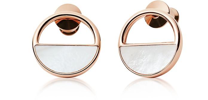 Elin Rose Gold-Tone Stud Earrings - Skagen