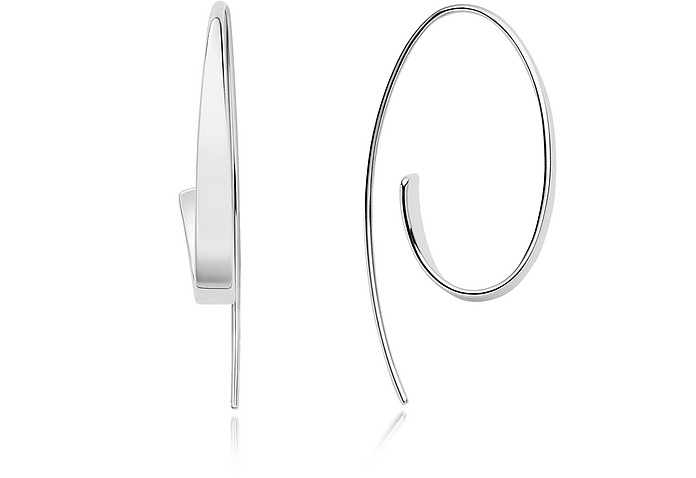 Kariana Silver-Tone Curl Earrings - Skagen